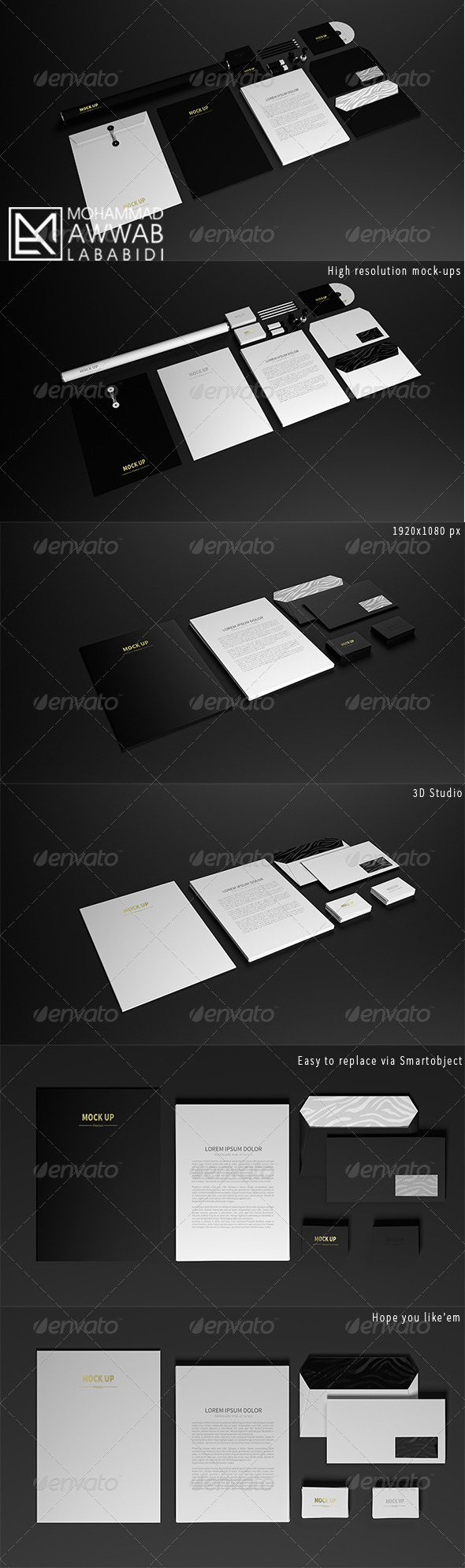 GraphicRiver Stationary Mock-Up 8714847