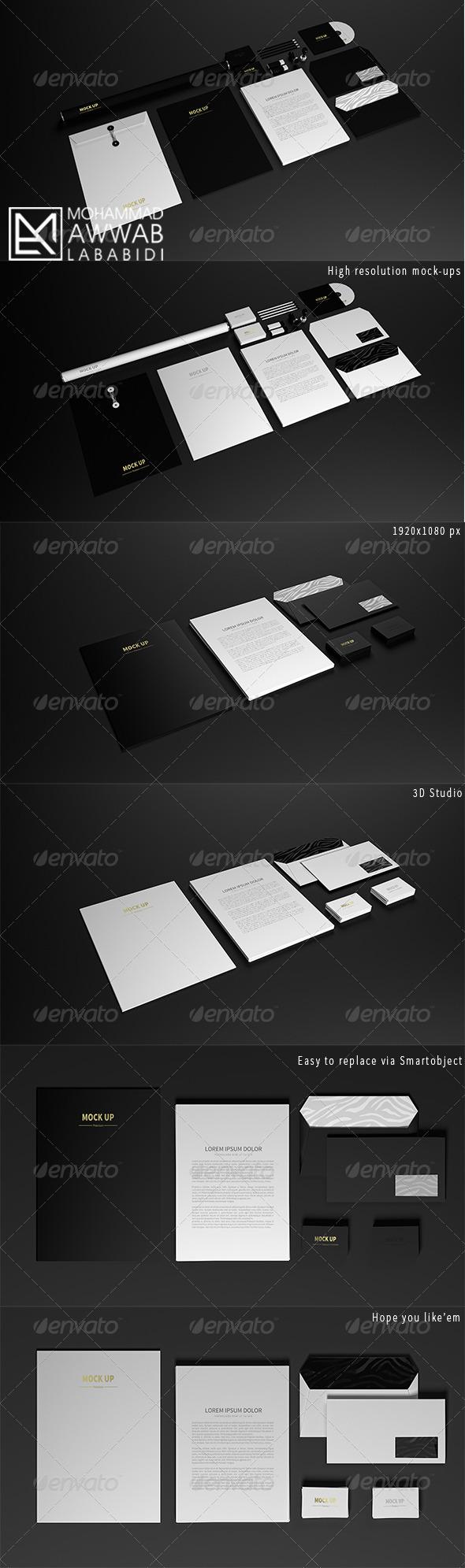 GraphicRiver Stationary Mock-Up 8714847