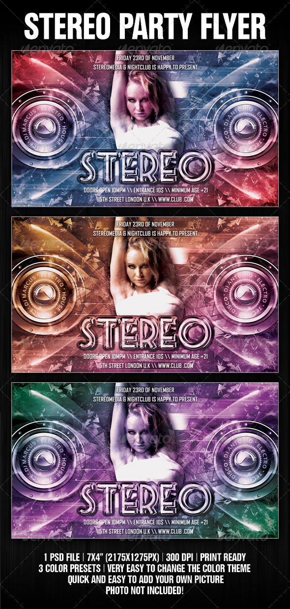 Stereo Party Flyer - Clubs & Parties Events