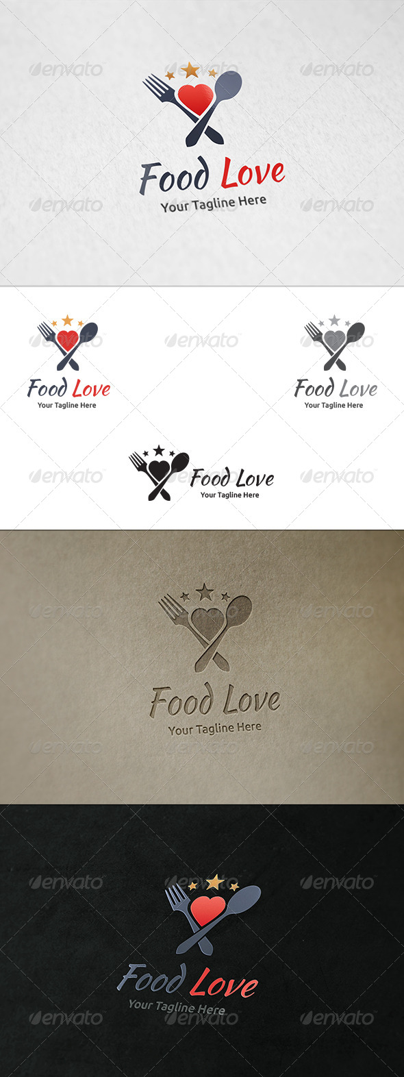 Food Love - Logo Template