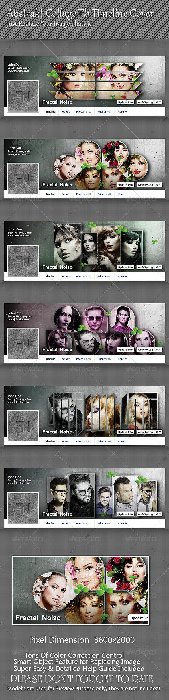 GraphicRiver Abstrakt Collage Fb Timeline Cover 8715104