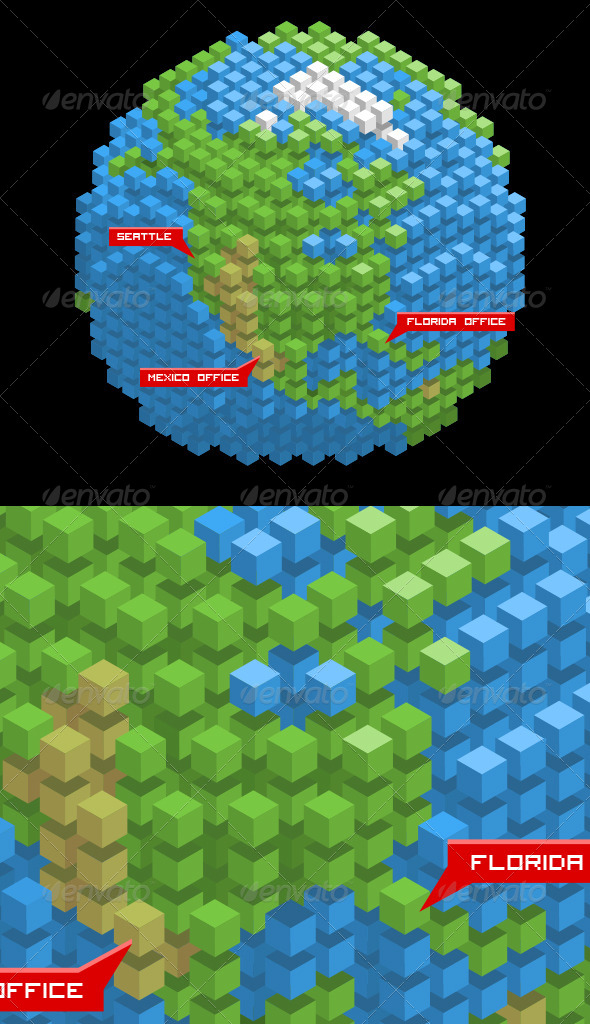 GraphicRiver Earth Made of Cubes 8715262