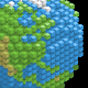 Earth Made of Cubes - GraphicRiver Item for Sale