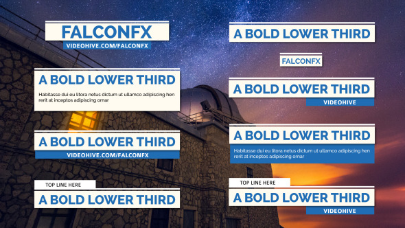 Bold & Modern Lower Thirds