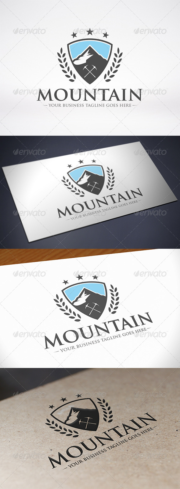 GraphicRiver Mountain Crest Logo Template 8715352