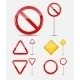 Blank Traffic Sign Set   - GraphicRiver Item for Sale