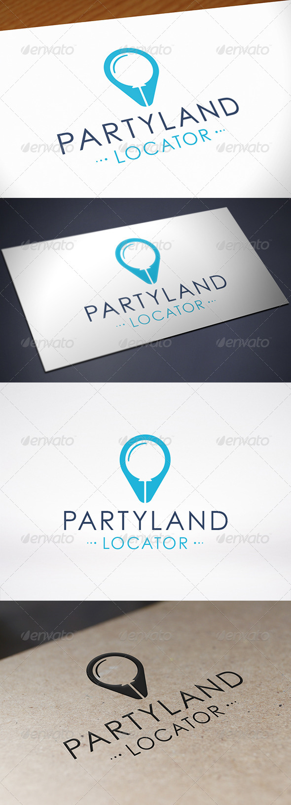 GraphicRiver Party Locator Logo Template 8715464