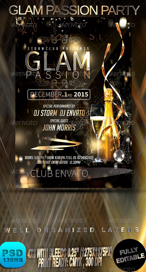 GraphicRiver Glam Passion Party 8712624