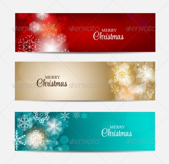 GraphicRiver Christmas Snowflakes Website Header or Banner 8715486
