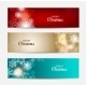 Christmas Snowflakes Website Header or Banner - GraphicRiver Item for Sale