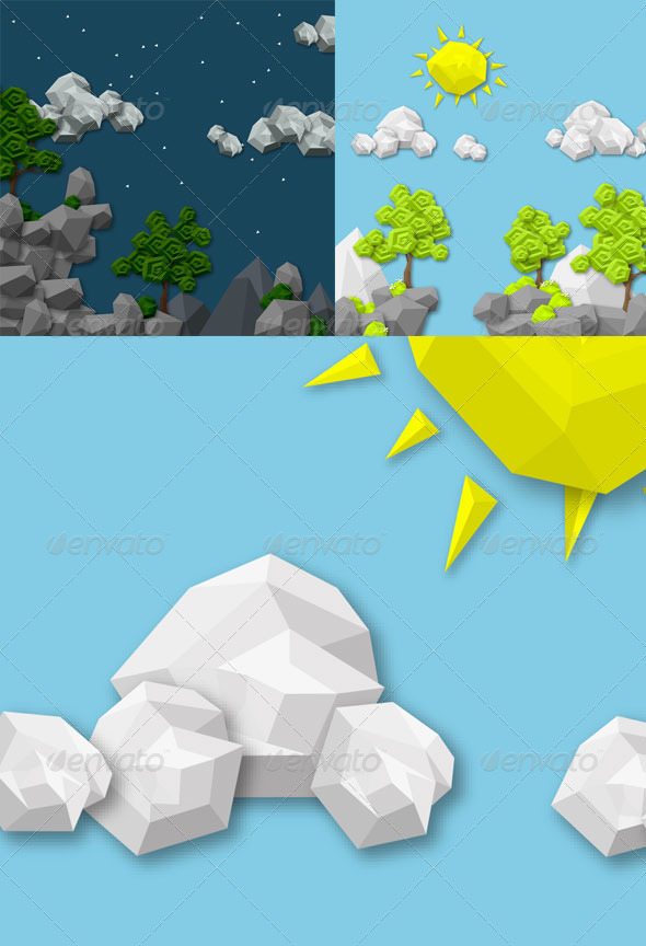 GraphicRiver Geometric 2D Game Assets 8715508