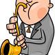 man with saxophone cartoon illustration - PhotoDune Item for Sale