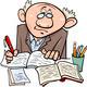professor or writer cartoon illustration - PhotoDune Item for Sale