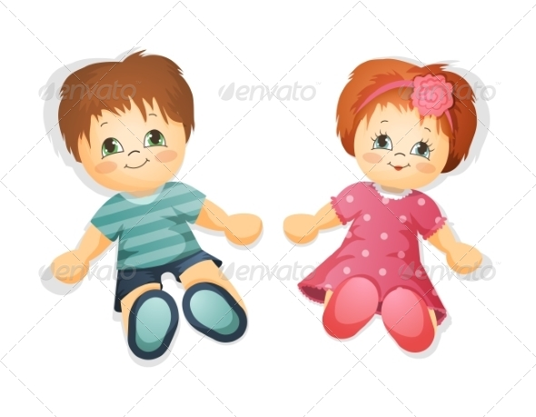 GraphicRiver Dolls Illustration 8715536