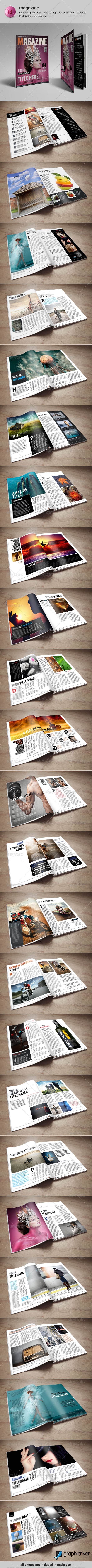 GraphicRiver 50 Pages Indesign Magazine Template 8715685