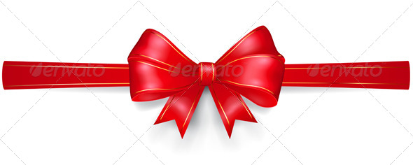 GraphicRiver Red Bow with Gold Strips 8715779