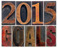 2015 goals in wood type - PhotoDune Item for Sale