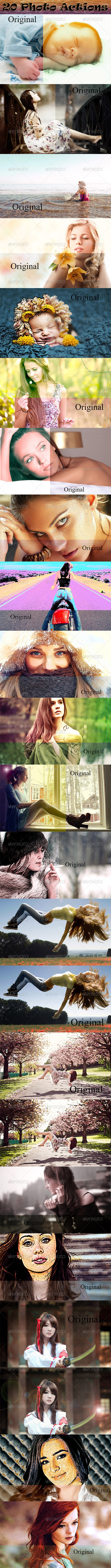 GraphicRiver 20 Photo Actions 8715846