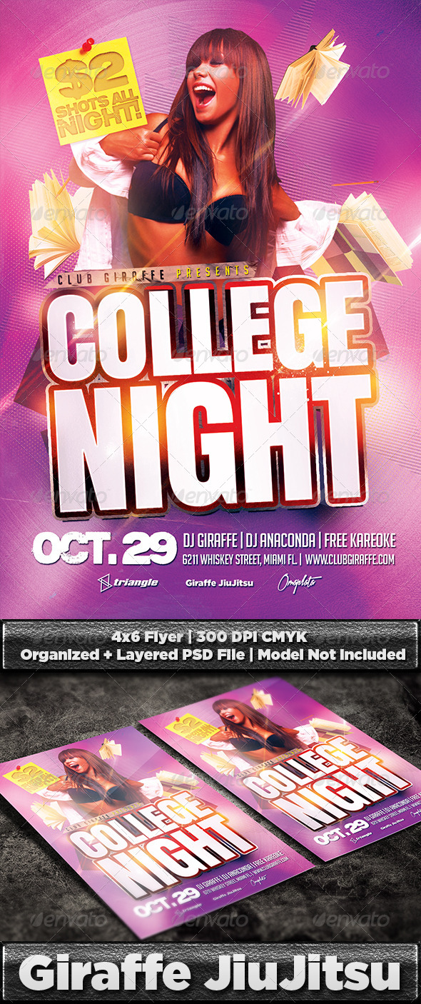 college night flyer template psd graphicriver