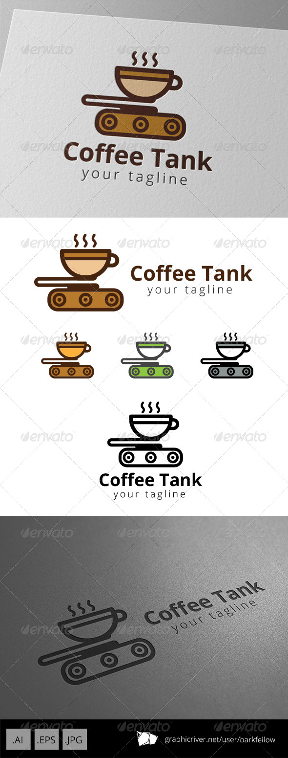 GraphicRiver Coffee Tank Cafe Logo 8716038