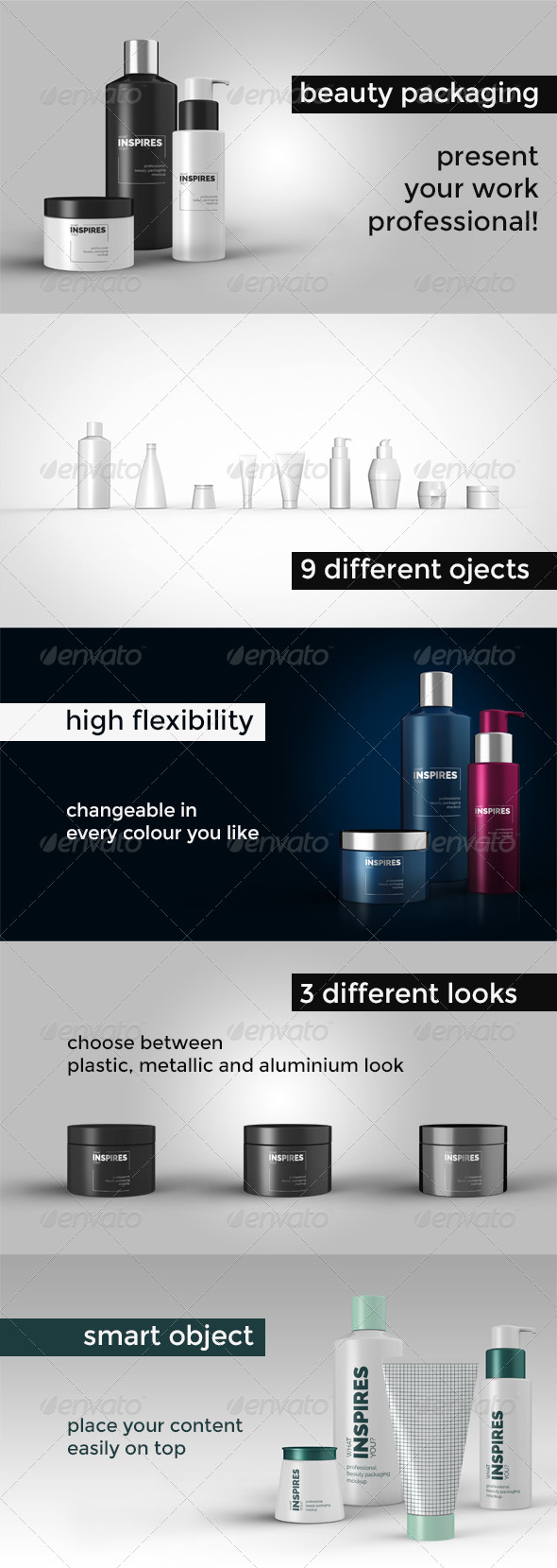 GraphicRiver Beauty Packaging Mockup 8716064