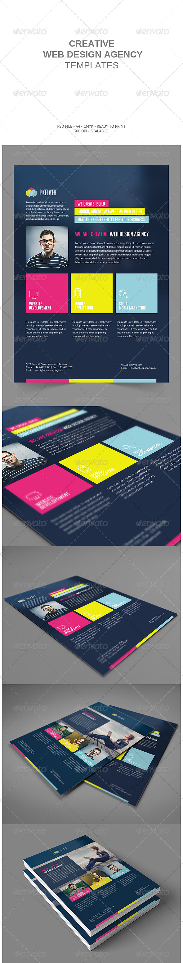 GraphicRiver Creative Web Agency Flyers 8716091