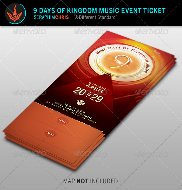 GraphicRiver 9 Days of Kingdom Music Event Ticket Template 8716110