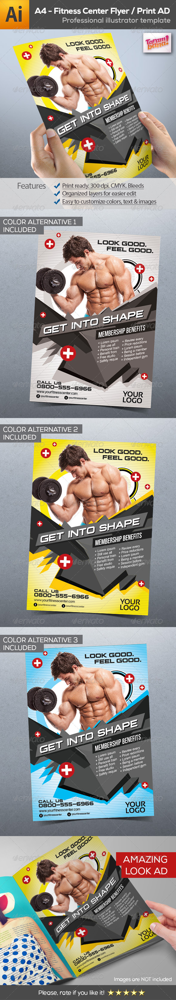 GraphicRiver Fitness Center Flyer Print AD 8716116