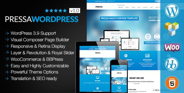 PRESSA - Multi Purpose Wordpress Theme - Business Corporate