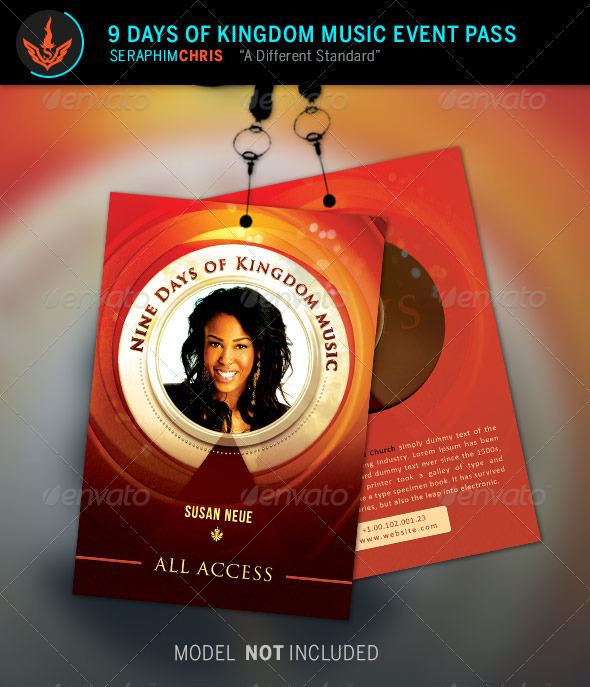 GraphicRiver 9 Days of Kingdom Music Event Pass Template 8716494