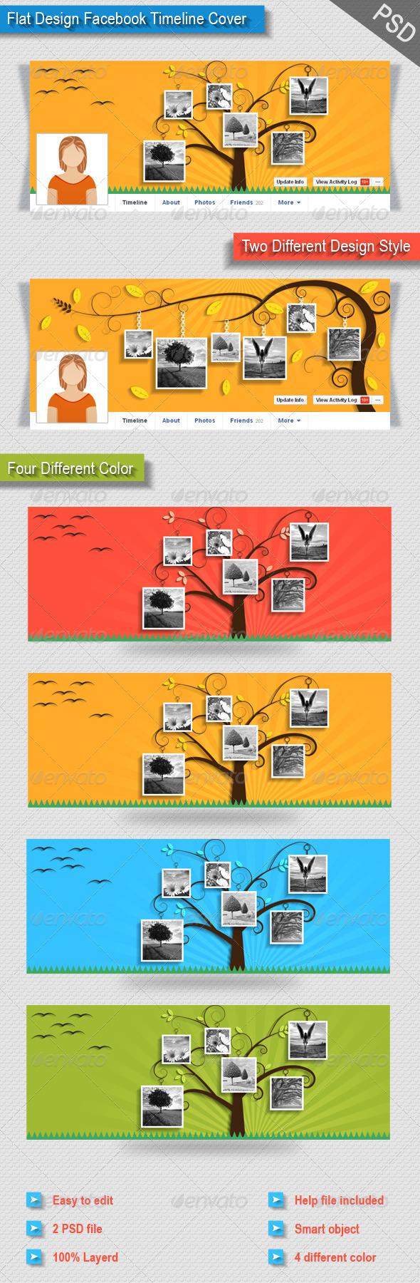 GraphicRiver Flat Design Facebook Timeline Cover 8716626