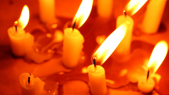 Candle Light With Flame 13