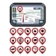 GPS Navigator with Pointer Icons - GraphicRiver Item for Sale