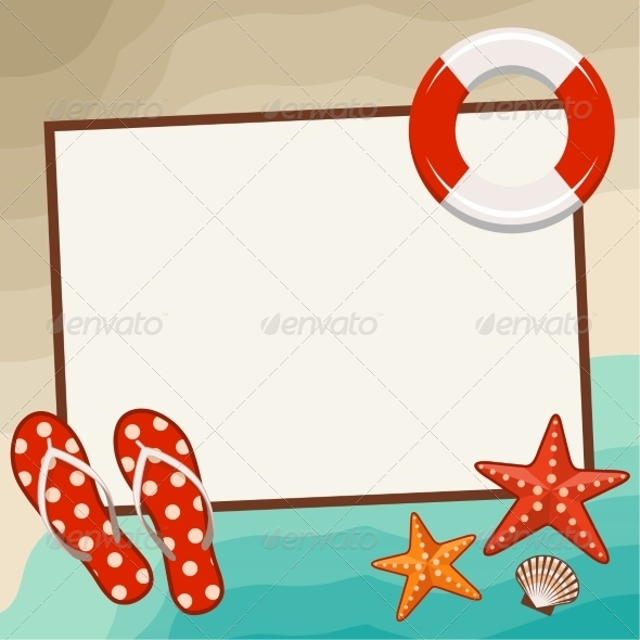 GraphicRiver Summer Frame with Beach Symbols 8716703