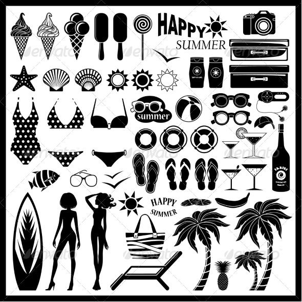 GraphicRiver Beach Icon Set 8716709