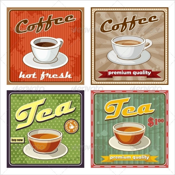 GraphicRiver Vintage Coffee and Tea Poster 8716713