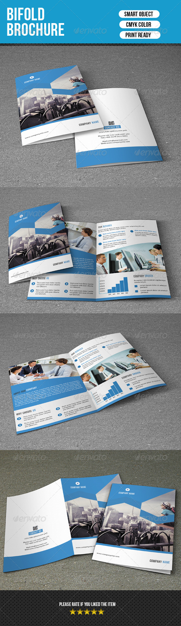 GraphicRiver Bifold Business Brochure-V117 8716721