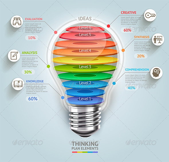 Business Lightbulb Timeline Infographics