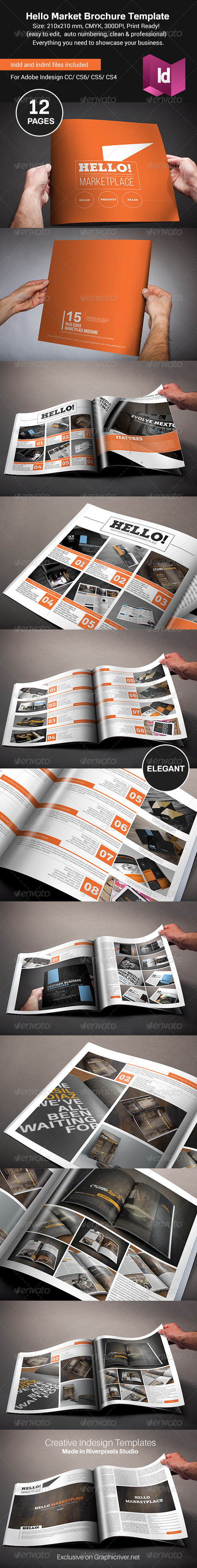 GraphicRiver Hello Market Brochure Template 8716774