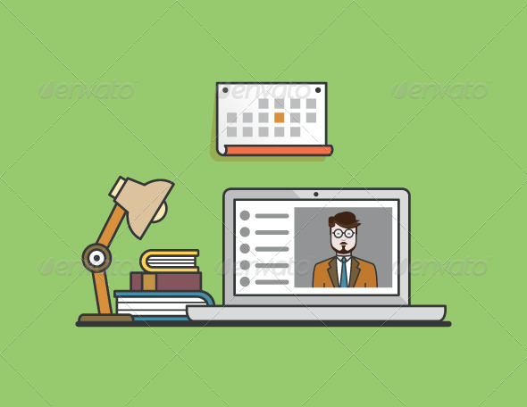 GraphicRiver Concept of E-Learning 8716865