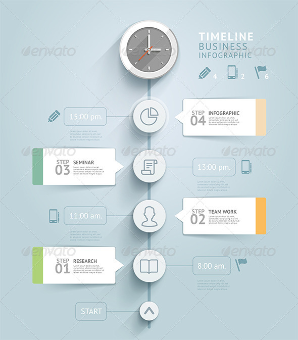 GraphicRiver Timeline Infographic Template 8716932