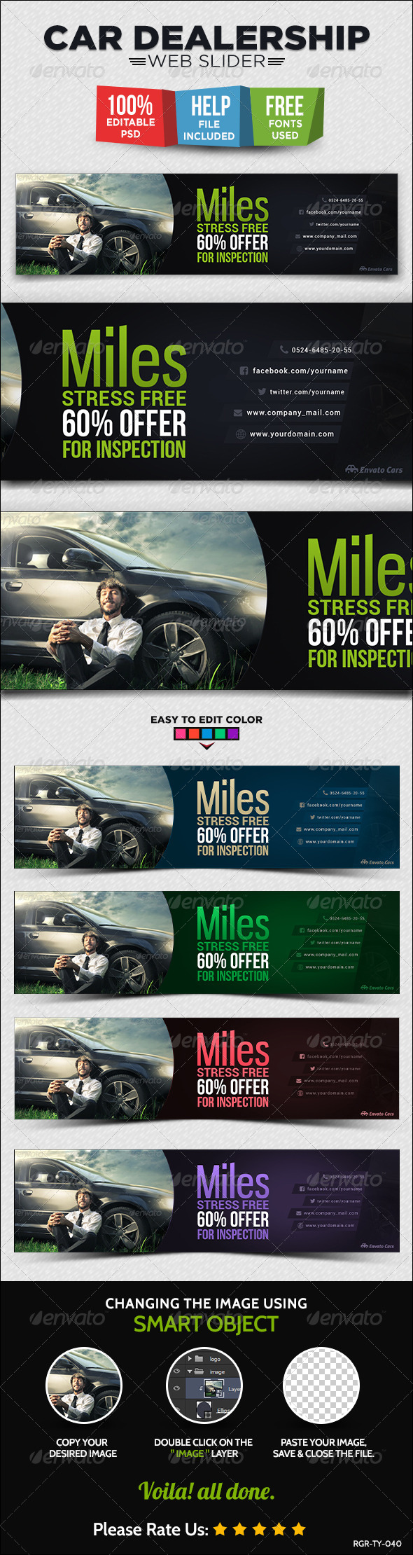 GraphicRiver Car Dealership Web Slider 8716939