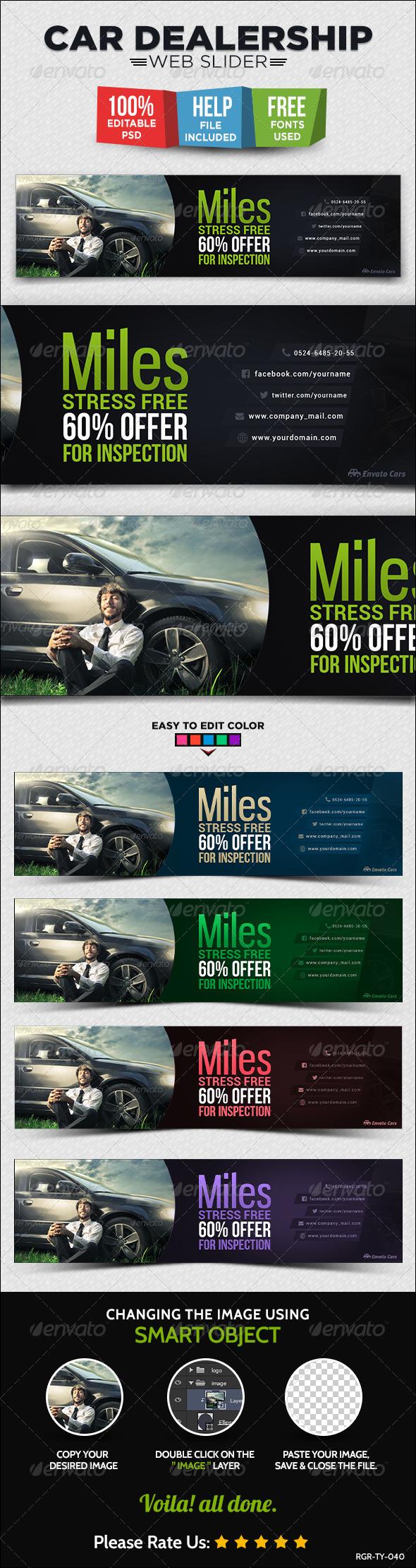 GraphicRiver Car Dealership Web Slider 8716939