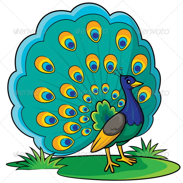 GraphicRiver Peacock Cartoon 8716945