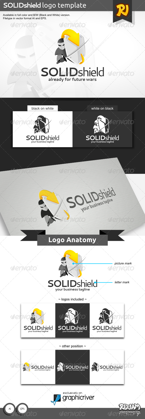 GraphicRiver SolidShield Logo 8716949