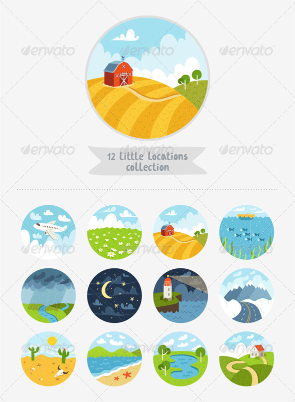 GraphicRiver Little Locations Collection 8717273