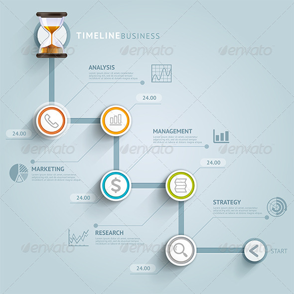 GraphicRiver Business Timeline Infographics 8717364