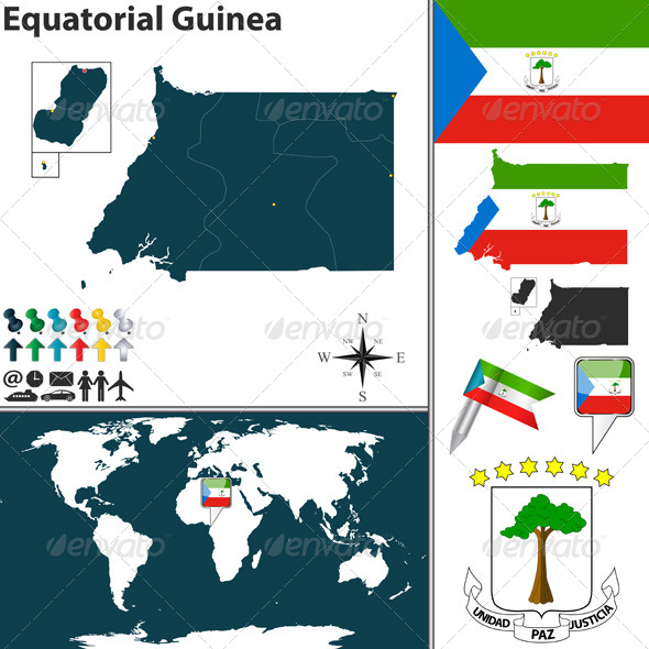 GraphicRiver Map of Equatorial Guinea 8717368