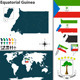 Map of Equatorial Guinea - GraphicRiver Item for Sale