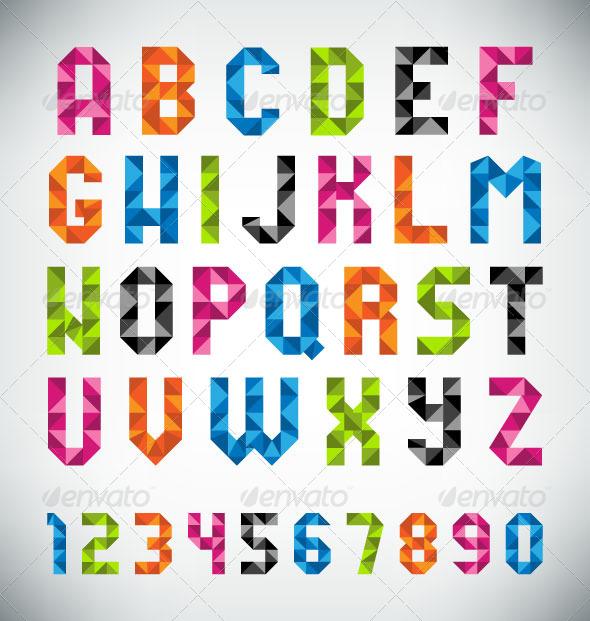 GraphicRiver Mosaic Font 8717372